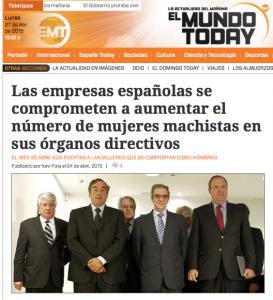 "La ""notícia"" a El Mundo Today"